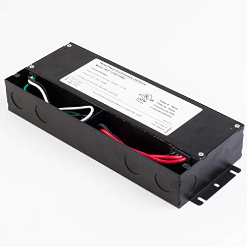 LEDupdates 12v UL Listed 300w Triac Dimmable Driver 100V - 277V AC Input Transformer Constant Voltage Power Supply for LED Strip light Control by AC Wall Dimmer (12v 300w) by LEDUPDATES (Image #1)