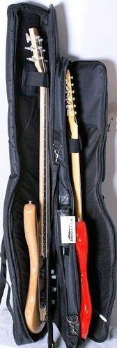 Funda Doble Grande para Guitarra Eléctrica y Bajo Eléctrico, Alta ...
