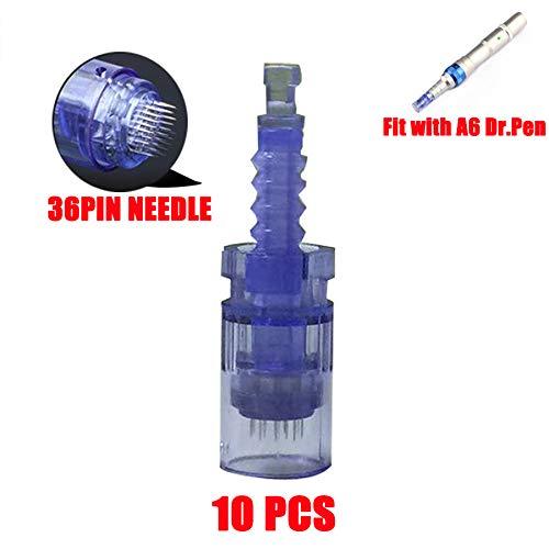 (Dr.Pen A6 Cartridges Needles Replacement Parts 10pcs Makeup Tattoo Needles Cartridges 36 Pins)