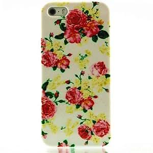 WQQ Patrón de la flor de Rose del estuche rígido para el iPhone 5/5S