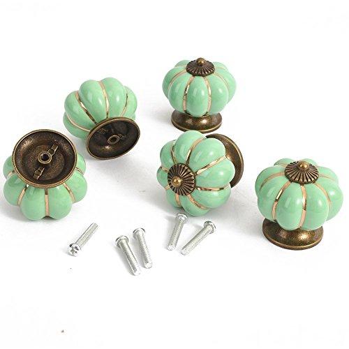 5 Pcs 40mm Crystal Glass Cabinet Knob Drawer Pull Handle - 7