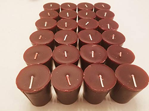 Old Candle Barn 24-Piece Votive Candles - Cranberry Scented 15 Hour - Perfect Burgundy Votives - Hand Poured Made in USA