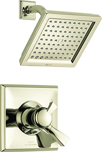Delta Faucet Dryden 17 Series Dual-Function Shower Trim Kit with Single-Spray Touch-Clean Shower Head, Polished Nickel T17251-PN (Valve Not Included)