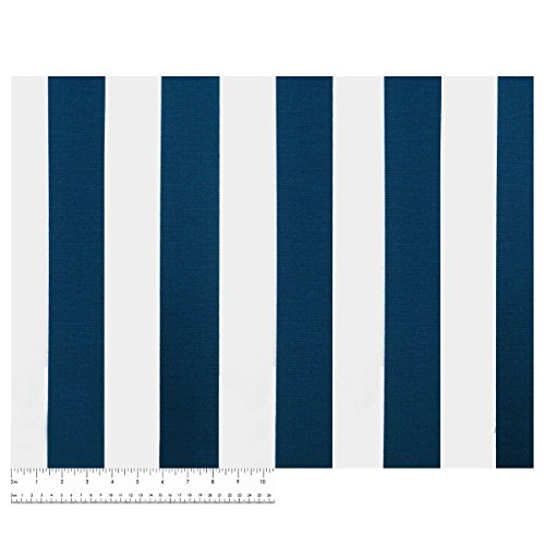 Finnigan Navy Nautical Futon Cover, Full Size 54 Inch x 75 Inch - Proudly Made in USA (Coastal, Seaside, Beach House Theme, Blue & White Stripes)