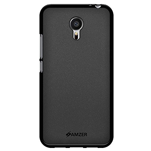 AMZER Pudding Soft Gel TPU Skin Fit Case Skin for Meizu M3 Note, Meizu MX6 - Retail Packaging - Black