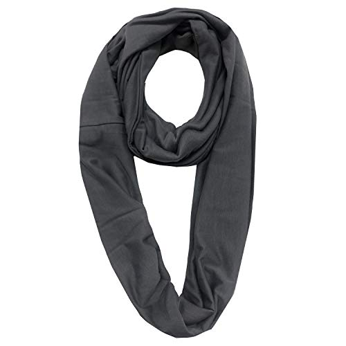 EGELBEL Women's Infinity Scarf With Pocket TravelHidden Zipper