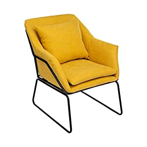 Atmosphera Fauteuil Chet Jaune Moutarde