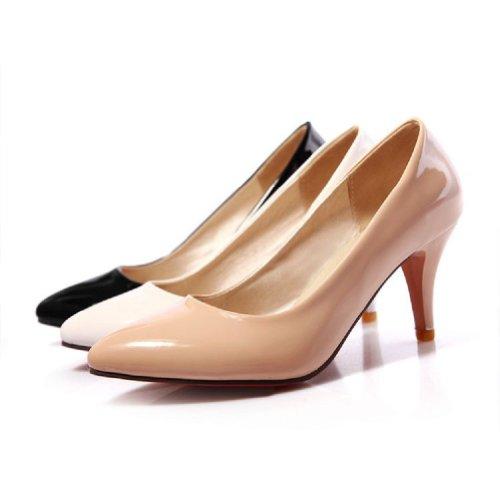 Charme Voet Mode Dames Klassiek Hoge Hak Stilettos Mary Jane Pumps Schoenen Wit