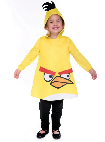 Toddler Angry Birds Yellow Bird Kids Costumes (Yellow Bird Costume - Toddler Medium)