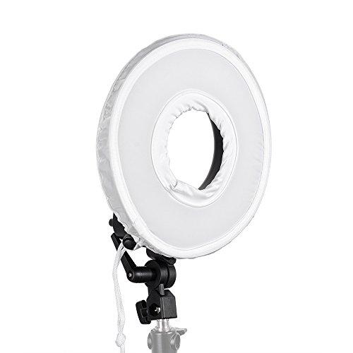 FalconEyes® DVR-300 Dual Color 300 LED Ring Light 3000K-7000K Adjustable  Photography Led Video Ring Light with Camera Bracket & Pegear In-Ear