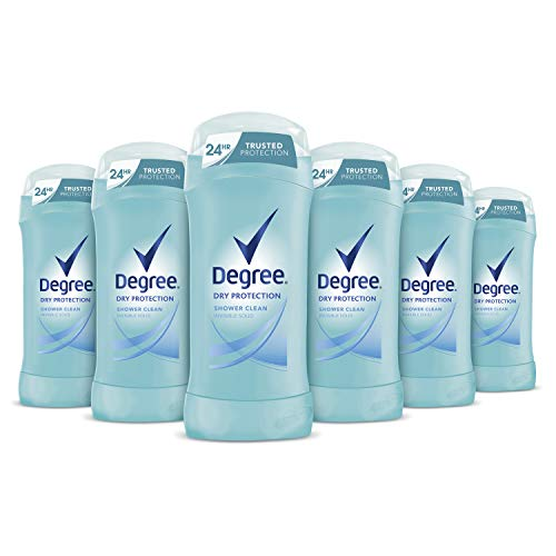 Degree Antiperspirant Deodorant 24 Hour Dry Protection Shower Clean Deodorant for Women 2.6 ounces, 6 Count