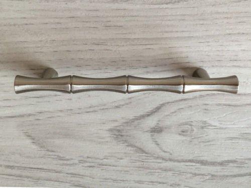s Bamboo Nickel Drawer Pull Handles Dresser Pulls Cabinet Door Handle (Medium- 3.75
