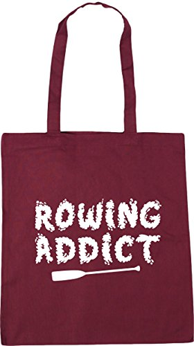 Tote Addict litres Rowing Shopping Bag Burgundy x38cm Beach 42cm Gym 10 HippoWarehouse gET56qwx