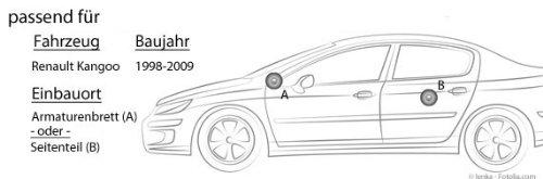Lautsprecher Dragster DCE412-10cm Koaxe f/ür Renault Kangoo 1 JUST SOUND best choice for caraudio