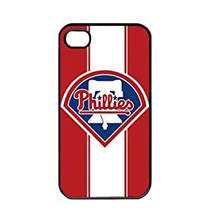 iphone covers MLB Major League Baseball Philadelphia Phillies Apple Iphone 6 plus TPU Soft Black or White case (Black)