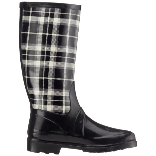 Nora Rubberen Laarzen, Regenlaarzen, Zwarte Laarzen 130068-1 Zwart