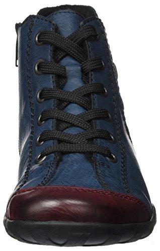 Wine Zapatillas para Navy Altas Mujer Rieker L6529 Azul FwWxYARn