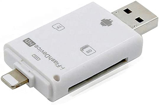 iFlash Drive USB Micro SD//TF SDHC Card Reader Adapter for iPhone iPad White US