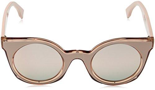 Rose Fendi Sonnenbrille S FF Rosa Speckled Grey 0196 Grey Pink Gd 40w4drq