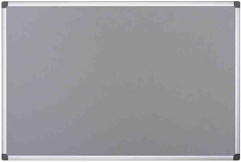 Green Felt 180 x 120 cm Bi-Office Notice Board Maya Aluminium Frame