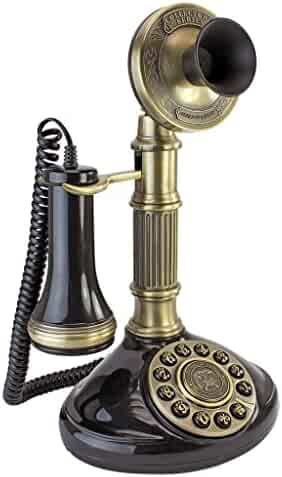 Design Toscano Antique Phone - Roman Column 1897 Candlestick Rotary Telephone - Corded Retro Phone - Vintage Decorative Telephones