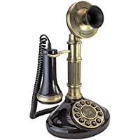 Antique Phone - Roman Column 1897 Candlestick Rotary Telephone - Corded Retro Phone - Vintage Decorative Telephones