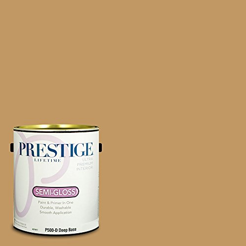 P500-D-SW6130 Interior Paint and Primer in One, 1-Gallon, Semi-Gloss, Comparable Match of Sherwin Williams Mannered Gold, 1 Gallon, SW130-Mannered