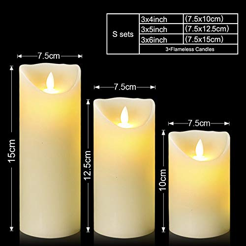 - Scented Candles 3pcs/lot Flameless Real Wax Led Candle Ivory Color Votive Led Pillar Candles For Home Holiday Weddings Decoration Christmas