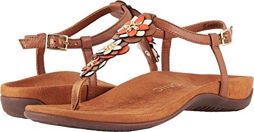 Vionic Womens Paulie T-Strap Sandal, Tan, Size 5