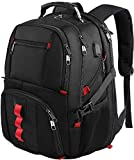 Travel Laptop Backpack, Extra Large College School Backpack for Mens and Women with USB Charging Port,TSA Friendly Water Resistant Big Business Computer Backpack Bag Fit 17 Inch Laptops Notebook,Black