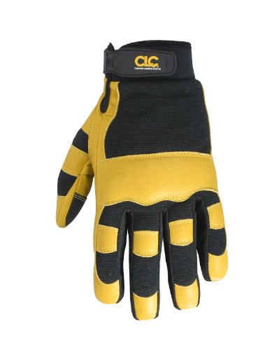 CLC Custom Leathercraft 275L Work Gloves with Top Grain Leather and Neoprene Wrist Closure, Large