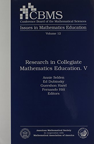 Research in Collegiate Mathematics Education. V (CBMS ISSUES IN MATHEMATICS EDUCATION) (v. 5)