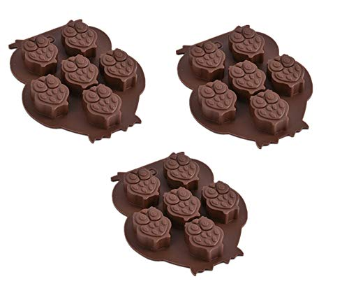3 Pack X Owl Bird Silicone Mold Ice Cube Chocolate Soap Tray Party Maker Baking (Ships From USA) ()