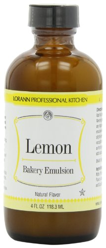 LorAnn Bakery Emulsions, Lemon Bakery Emulsion, 4-Ounce Bottle (Pack of 4) -