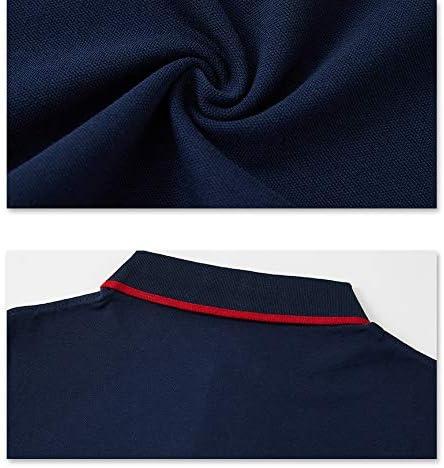 XJOE Casual Solid-Color Short-Sleeve Men Polo-Shirt,Classic Tipped Cotton Denim Collar Short-Sleeved Polo-Shirt for Men
