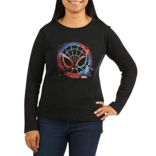 CafePress Spider Man Icon S Women's Long Sleeve Dark T Shirt Women's Long Sleeve T-Shirt, Classic 100% Cotton Crew Neck Shirt Black (The Amazing Spider Man Long Sleeve Shirt)