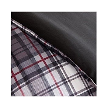 Comforter Bed Set Black White Red Plaid Print Teen Bedding Bedspread Pillow Update Home Decor (Twin/twin Xl) by Mi-Zone (Image #2)