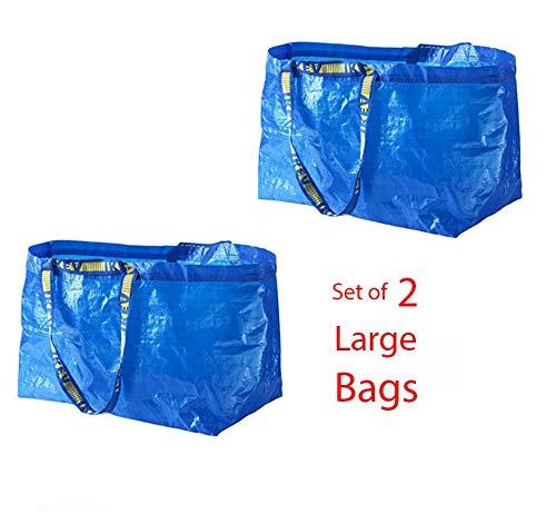 Shopping Bag Blue 2Pk Large Frakta Grocery Laundry Tote Tkmini9 from Unknown