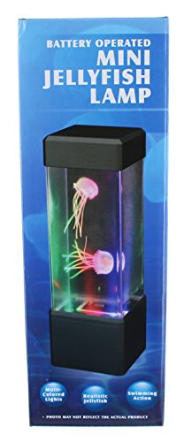 Warm Fuzzy Toys Desktop Aquarium Tower - Jellyfish