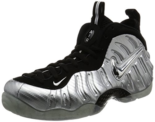 Nike Men Air Foamposite Pro PRM Basketball Shoes Metallic Silver