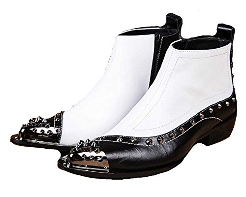 Pointed men's fashion formal leather boots ankle boots - 9