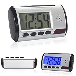 Alarm Clock Hidden Nanny Cam Motion Detection