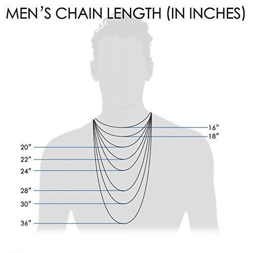 Pori Jewelers Genuine Platinum 950 Solid Diamond Cut Cuban/Curb Chain Necklace -1.0mm Thick (16)