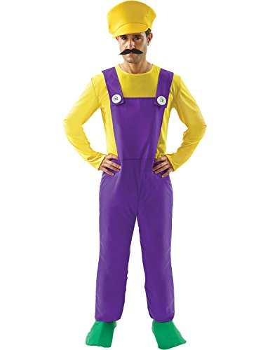Adults Costume Wario (Adult Wario Super Mario Bad Plumber Cosplay Fancy Dress Costume)