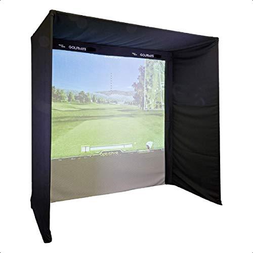 Golf Simulator Enclosure Kit with Golf Impact Screen (Easysimpro no poles -...