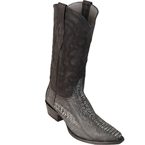 Original Sanded boots Leg Ostrich Toe Altos Skin Boot Black Los Snip 4wRZAA