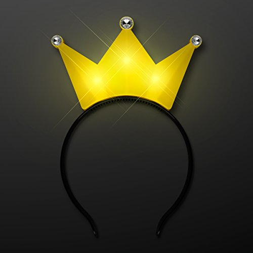 Light Up LED Crown Tiara Princess Headband (Yellow) ()