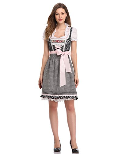 GloryStar Women's German Dirndl Dress 3 Pieces Oktoberfest