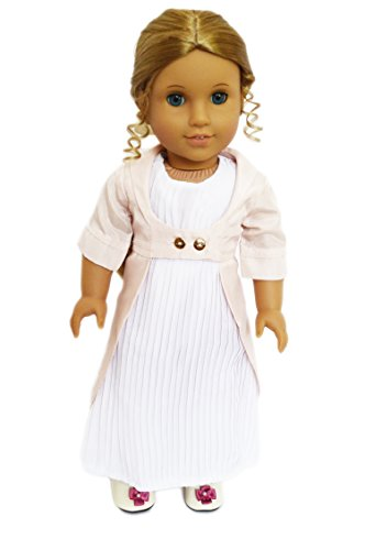 GEORGIAN ERA COLONIAL GOWN FOR 18 INCH AMERICAN GIRL DOLLS (Era Gown)