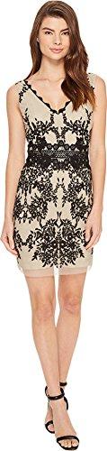 Nicole Miller Women's Hialeah Lace Party Dress Black/Cream Dress